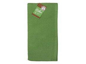 Utěrka bavlněná COLOR tmavě zelená 45x65 cm Essex