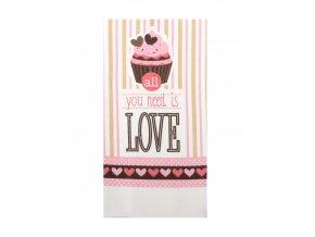 Utěrka LOVE - LOVE mikrovlákno 38x63 cm, Essex