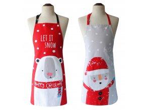 Kuchyňská bavlněná zástěra FUNNY CHRISTMAS LET IT SNOW, Essex, 100% bavlna