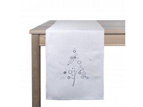 Ubrus - běhoun na stůl WINTER TIME, 35x180 cm, světle šedá, ESSEX