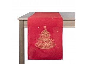 Ubrus - běhoun na stůl WINTER TIME, 35x180 cm, červená, ESSEX