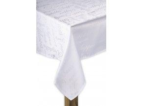 Ubrus POETRY bílá, 110x160, 130x180 cm motiv C ESSEX