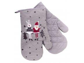 Kuchyňské rukavice chňapky FUNNY CHRISTMAS FRIENDS 18x30 cm Essex