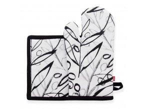 Kuchyňská rukavice/chňapka OLIVESSE, 18x30 cm/20X20 cm HOME & YOU, 100% bavlna
