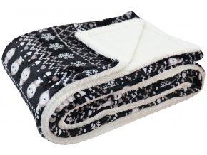 Přehoz - mikrovláknová deka s beránkem NATALE -150x200 cm Essex