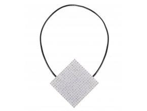 Dekorační ozdobná spona na závěsy s magnetem JIRMA, bílá, 6x6 cm Mybesthome