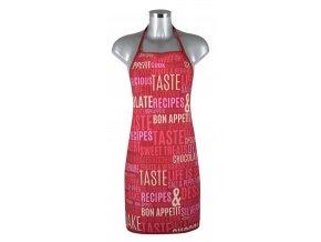 Kuchyňská zástěra BON APETIT 60x75 cm, červená, 100% bavlna, Essex