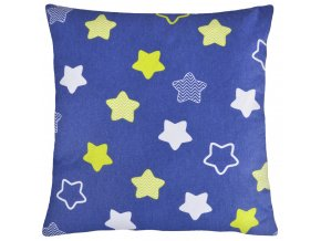 Bavlněný polštář HVĚZDY modrá 40x40 cm, Mybesthome