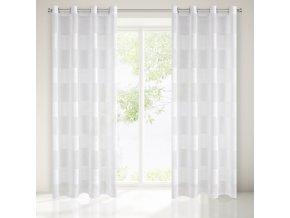 Dekorační vzorovaná záclona NIKA bílá 140x250 cm MyBestHome