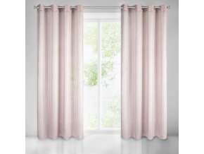 Dekorační vzorovaná lesklá záclona NORA růžová 140x250 cm MyBestHome