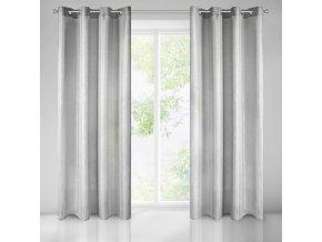 Dekorační vzorovaná lesklá záclona NORA stříbrná 140x250 cm MyBestHome