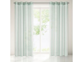 Dekorační vzorovaná záclona BALLE mátová 140x250 cm MyBestHome
