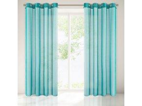 Dekorační vzorovaná záclona BALLE tyrkysová 140x250 cm MyBestHome