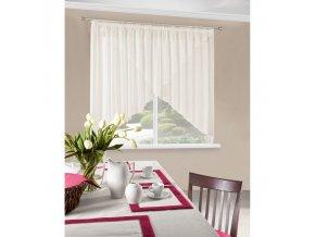 Dekorační oblouková krátká záclona SANDRA krémová 400x145 cm MyBestHome