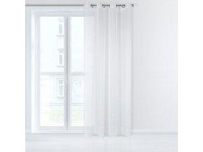 Dekorační záclona EMMA bílá s kroužky 140x245 cm MyBestHome