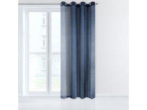 Dekorační záclona EMMA modrá s kroužky 140x250 cm MyBestHome