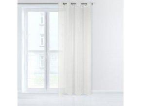 Dekorační záclona EMMA krémová s kroužky 140x250 cm MyBestHome