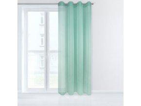 Dekorační záclona EMMA mátová s kroužky 140x250 cm MyBestHome