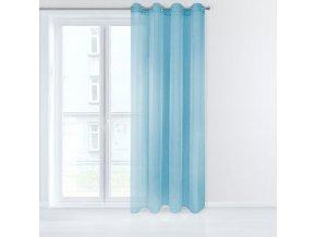 Dekorační záclona EMMA světlá modrá s kroužky 140x250 cm MyBestHome