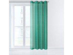 Dekorační záclona EMMA zelená s kroužky 140x250 cm MyBestHome