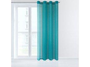 Dekorační záclona EMMA tyrkysová s kroužky 140x250 cm MyBestHome
