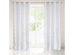 Dekorační vzorovaná záclona EXOTICO bílá, vzor koně 140x250 cm MyBestHome