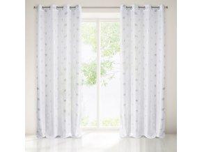 Dekorační vzorovaná záclona EXOTICO bílá, vzor sloni 140x250 cm MyBestHome