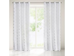 Dekorační vzorovaná záclona EXOTICO bílá, vzor plameňáci 140x250 cm MyBestHome