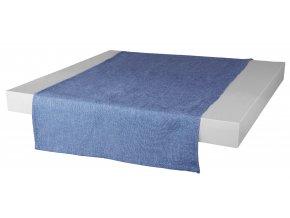 Ubrus - běhoun na stůl BASIC 40x120 cm, modrá, ESSEX