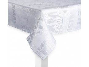 Ubrus MERRY Xmas, 130x180 cm, bílá, ESSEX