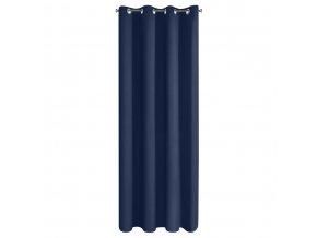 """Dekorační závěs """"BLACKOUT"""" zatemňující SIERRA 135x250 cm, tmavě modrá, MyBestHome"""