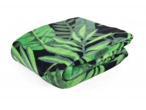 Deka z mikrovlákna PALM zelená 150x200 cm Essex