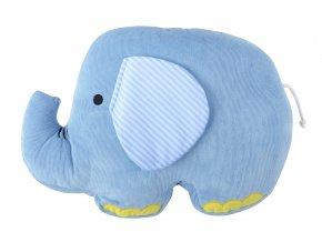 Dětský tvarovaný polštářek větších rozměrů HAPPY PETS slon 47x34 cm cm Essex