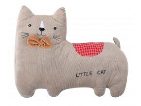 Dětský tvarovaný polštářek větších rozměrů HAPPY PETS kočka 47x36 cm cm cm Essex
