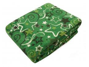 Deka z mikrovlákna SCANDIA zelená, 150x200 cm Essex