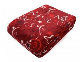Deka z mikrovlákna SCANDIA červená, 150x200 cm Essex