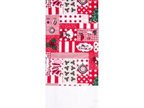 Utěrka HAPPY CHRISTMAS, červená, mikrovlákno 38x63 cm, Essex