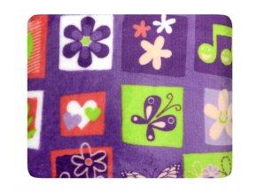 Dětská deka COLLIN, fialová 75x100 cm Essex