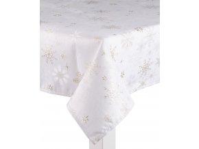 Ubrus CHRISTMAS POSH, 130x180 cm, zlaté vločky, ESSEX