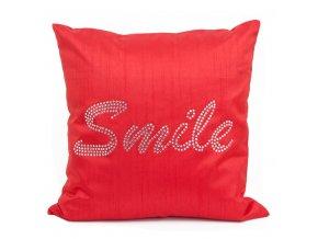 Polštář SMILE červená MyBestHome 40x40cm