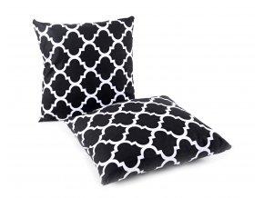 Bavlněný polštář ORNAMENTS černá 40x40 cm