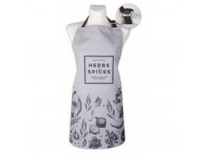 Kuchyňská bavlněná zástěra SPICES, šedá, Essex, 100% bavlna