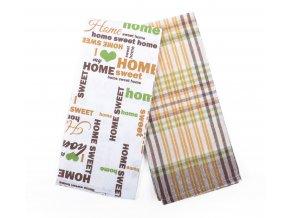Utěrka SWEET HOME, 2 kusy 100% bavlna, hnědá, 45x65 cm Essex