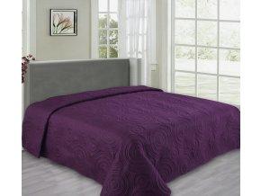 Přehoz na postel REFLECTION 220x240 cm fialová ESSEX