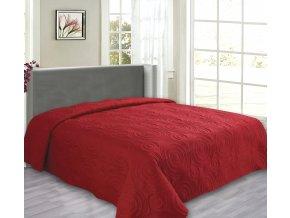 Přehoz na postel REFLECTION 220x240 cm červená ESSEX
