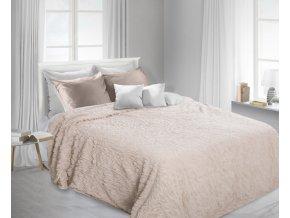 Luxusní přehoz na postel STARS 220x240 cm béžový Mybesthome