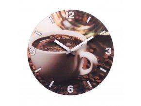 Nástěnné hodiny COFFEE béžová průměr 30,5 cm Mybesthome