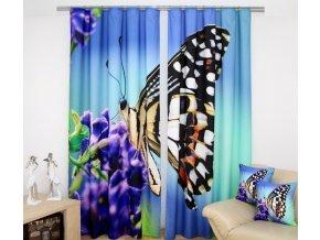 3D dekorační závěs 60 MOTÝL 160x250 cm MyBestHome
