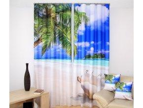 3D dekorační závěs 81 PLÁŽ 160x250 cm MyBestHome