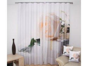 3D dekorační závěs 87 BÍLÁ RŮŽE 160x250 cm MyBestHome